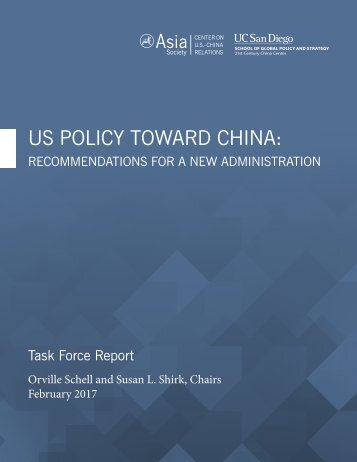 US POLICY TOWARD CHINA
