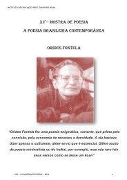 XV Mostra de Poesia Orides Fontela