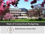 State of Connecticut Budgeting