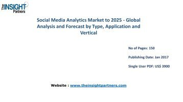 Social Media Analytics Market Growth, Trends, Industry Analysis and Forecast to 2025 |The Insight Partners