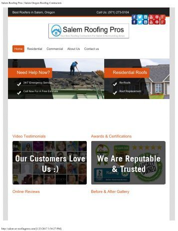 Salem Oregon Roofing Pros Contractors