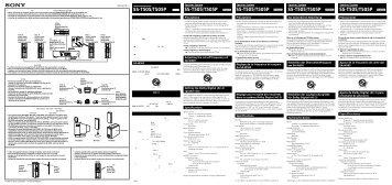Sony SS-T505 - SS-T505 Istruzioni per l'uso Francese