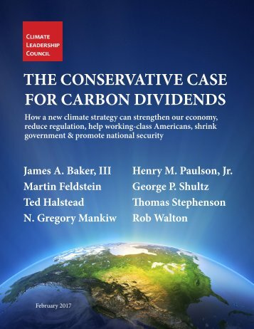THE CONSERVATIVE CASE FOR CARBON DIVIDENDS