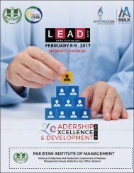 FEBRUARY 8-9  2017 PAKISTAN INSTITUTE OF MANAGEMENT