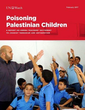 Poisoning Palestinian Children