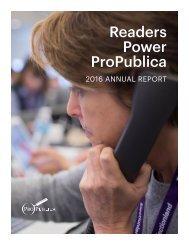 Readers Power ProPublica