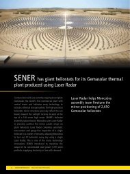 Sener inspects Gemasolar heliostat mirror with Nikon Metrology