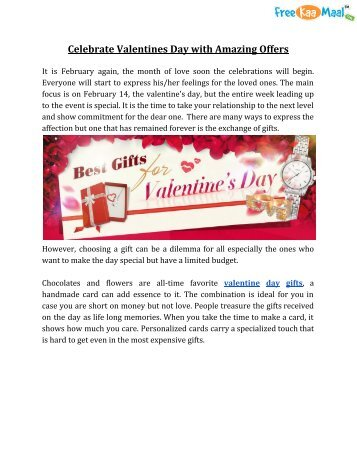 Celebrate Valentines Day with Amazing Offers