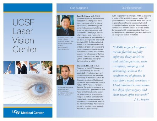 Ucsf Laser Vision center - UCSF Department of Ophthalmology