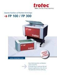 FP 100 / FP 300 - Trotec Laser Inc