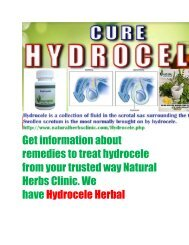Herbal Remedies for Hydrocele