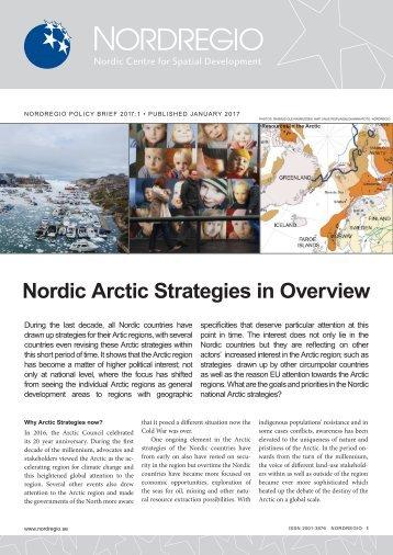 Nordic Arctic Strategies in Overview