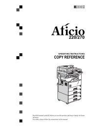 Aficio 220/Aficio 270, D422/D427, 2822/2827 - Accucopysales.com