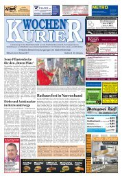Wochen-Kurier 6/2017 - Lokalzeitung für Weiterstadt und Büttelborn