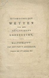 Wetten van het departement Loosdrecht 1823