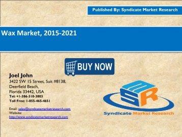 Wax Market, 2015-2021