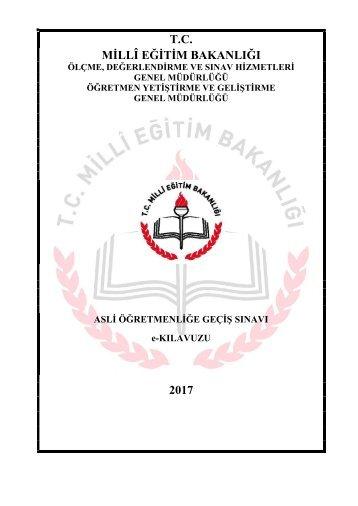 T.C MİLLÎ EĞİTİM BAKANLIĞI 2017