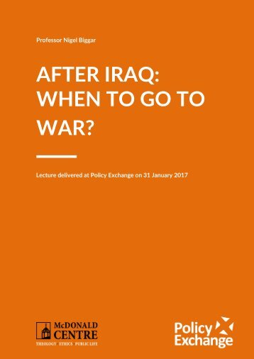 AFTER IRAQ WHEN TO GO TO WAR?