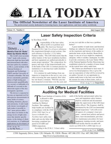 Today Jul/Aug '05 dummy - Laser Institute of America