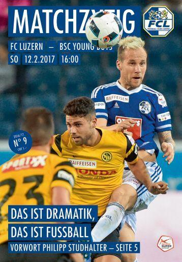 FC LUZERN MATCHZYTIG N°9 16/17 (RSL 20)