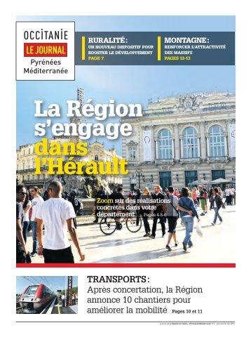 La Région s'engage dans l'Hérault