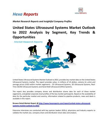 United States Ultrasound Systems Market Outlook to 2022 Analysis by Segment, Key Trends & Opportunities