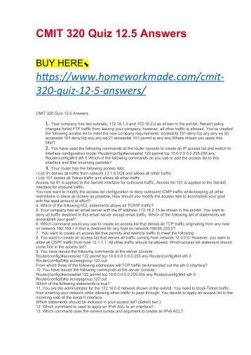 Cmit 391 linux proposal