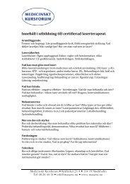 Innehåll i utbildning till certifierad laserterapeut. - Medicinskt ...