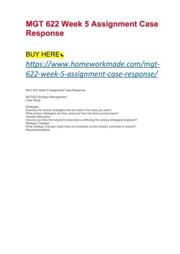 Mgt505 assignment 5