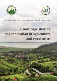 Knowledge sharing and innovation in agriculture and rural areas