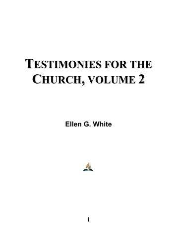 Testimonies for the Church, Volume 2 - Ellen G. White