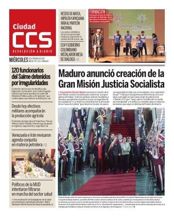 Maduro anunció creación de la Gran Misión Justicia Socialista