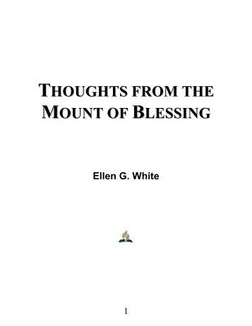 Thoughts from the Mount of Blessing - Ellen G. White