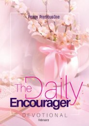 THE DAILY ENCOURAGER - FEBRUARY