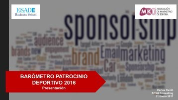 BARÓMETRO PATROCINIO DEPORTIVO 2016