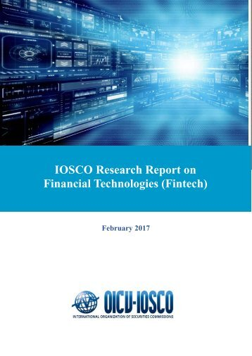 IOSCO Research Report on Financial Technologies (Fintech)