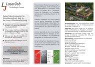 Zukunftstechnologien im Schablonendruck und in ... - LaserJob GmbH