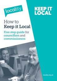 How to Keep it Local