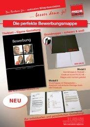 Titelblatt – Eigene Gestaltung Grundmappe – schwarz & weiß Modell I