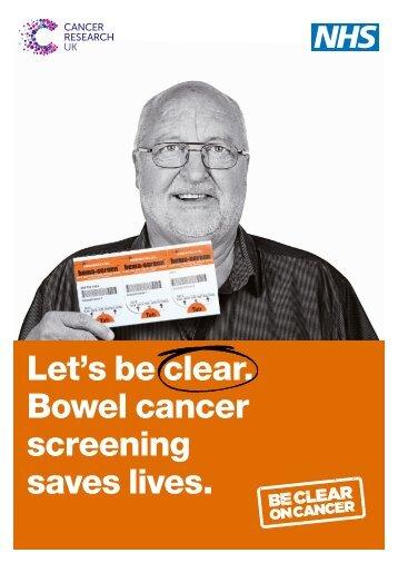 Bowel cancer screening saves lives