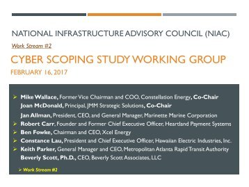 CYBER SCOPING STUDY WORKING GROUP