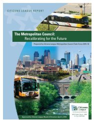 The Metropolitan Council Recalibrating for the Future