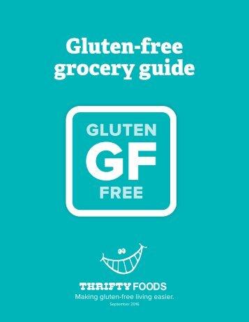 Gluten-free grocery guide
