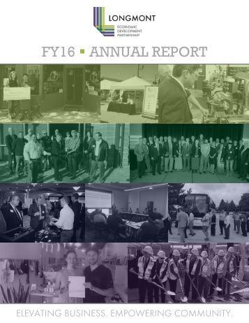 Longmont EDP FY16 Annual Report