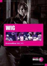 WIG-Schweißbrenner-Teile