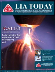 Featuring Cutting-Edge Explorations of Laser Manufacturing pg.6