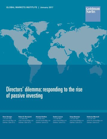 Directors' dilemma responding to the rise of passive investing