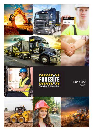 Foresite-Price-List-2017