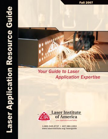 Your Guide to Laser Application Expertise - Laser Institute of America