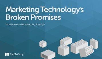 Marketing Technology's Broken Promises